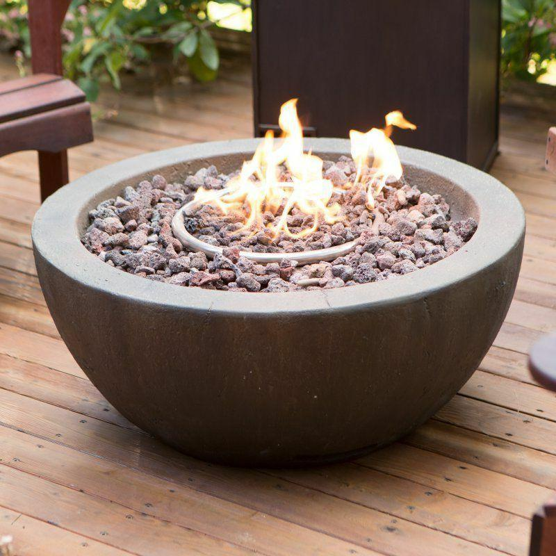Outdoor Fire Pit Propane Gas Backyard Patio With Tank Hideaw