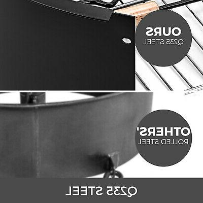 Fire Pit Ring 24,36,42,45 BBQ Fire Bowl Durable Steel In Ground