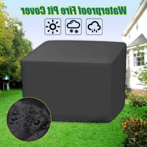 fire pit square cover outdoor dustproof waterproof