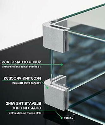 GASPRO Square Pit Clear Glass Wind Guard