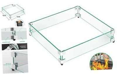 gaspro 23 5 square fire pit glass