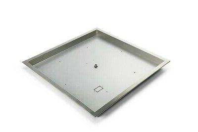 hearth products controls stainless steel square fire