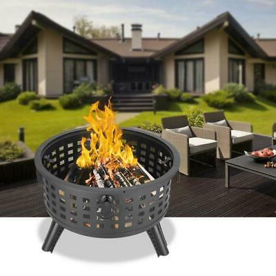 large outdoor fire pit wood burning heater