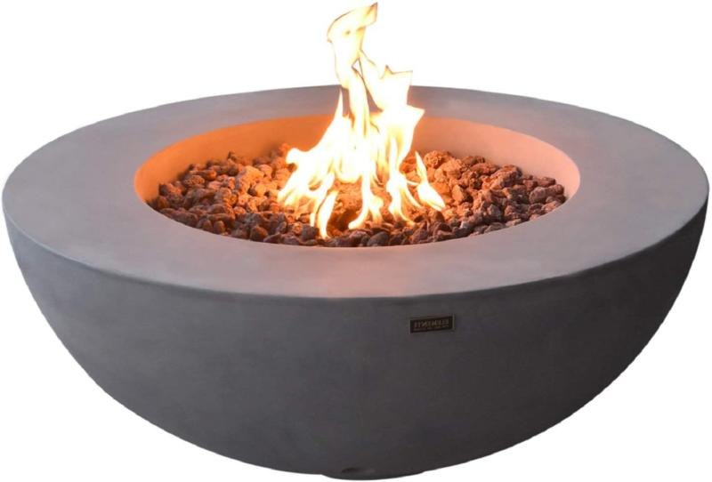 Elementi Lunar Bowl Outdoor Fire Pit Table 42 Inches Round F