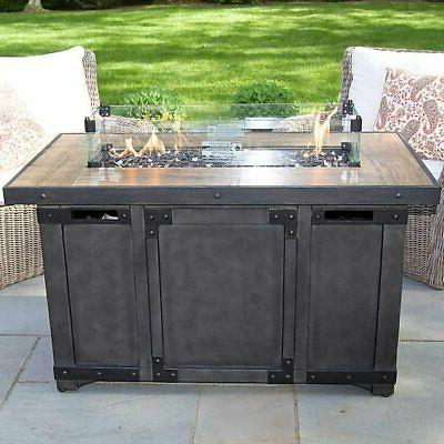 manchester industrial fire pit wood grained tile