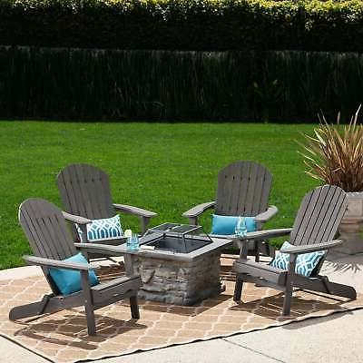 marrion outdoor 5 piece adirondack chair set