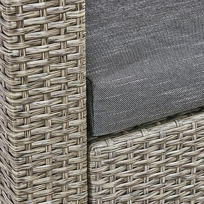 Maxwell Outdoor 4 Club Chair with Square Beige Cushion