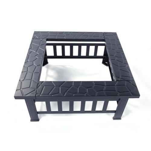 """32"""" Outdoor Pit Backyard Patio Square"""