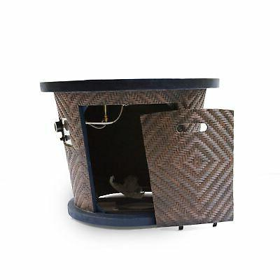 "Meyer Outdoor 32"" Circular Light Weight Pit - brown"