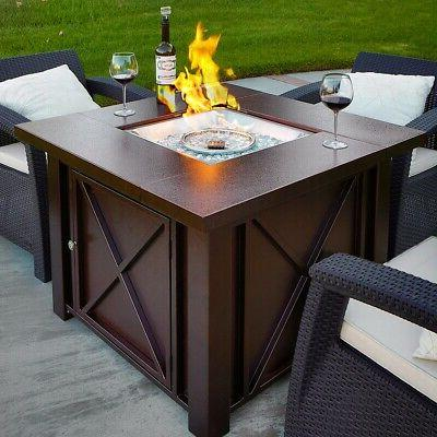 new lpg fire pit table outdoor gas