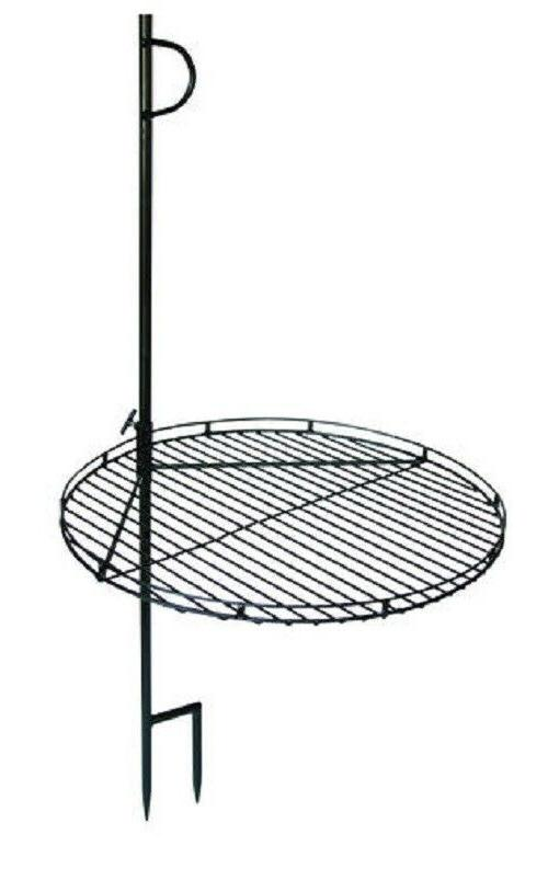 Open Fire Pit Charcoal Wood Burning BBQ Grill w/Height Adjus
