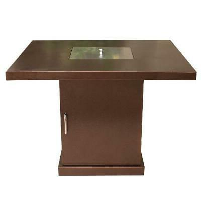 AZ Patio Heaters Conventional Propane Fire Pit in Hammered Bronze