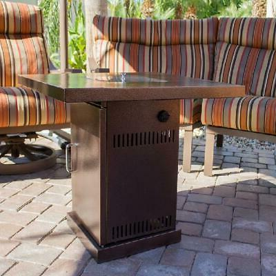 AZ Heaters Outdoor Conventional Propane Fire Pit in Hammered