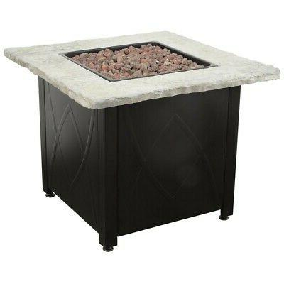 outdoor fire pit propane gas 30 inch