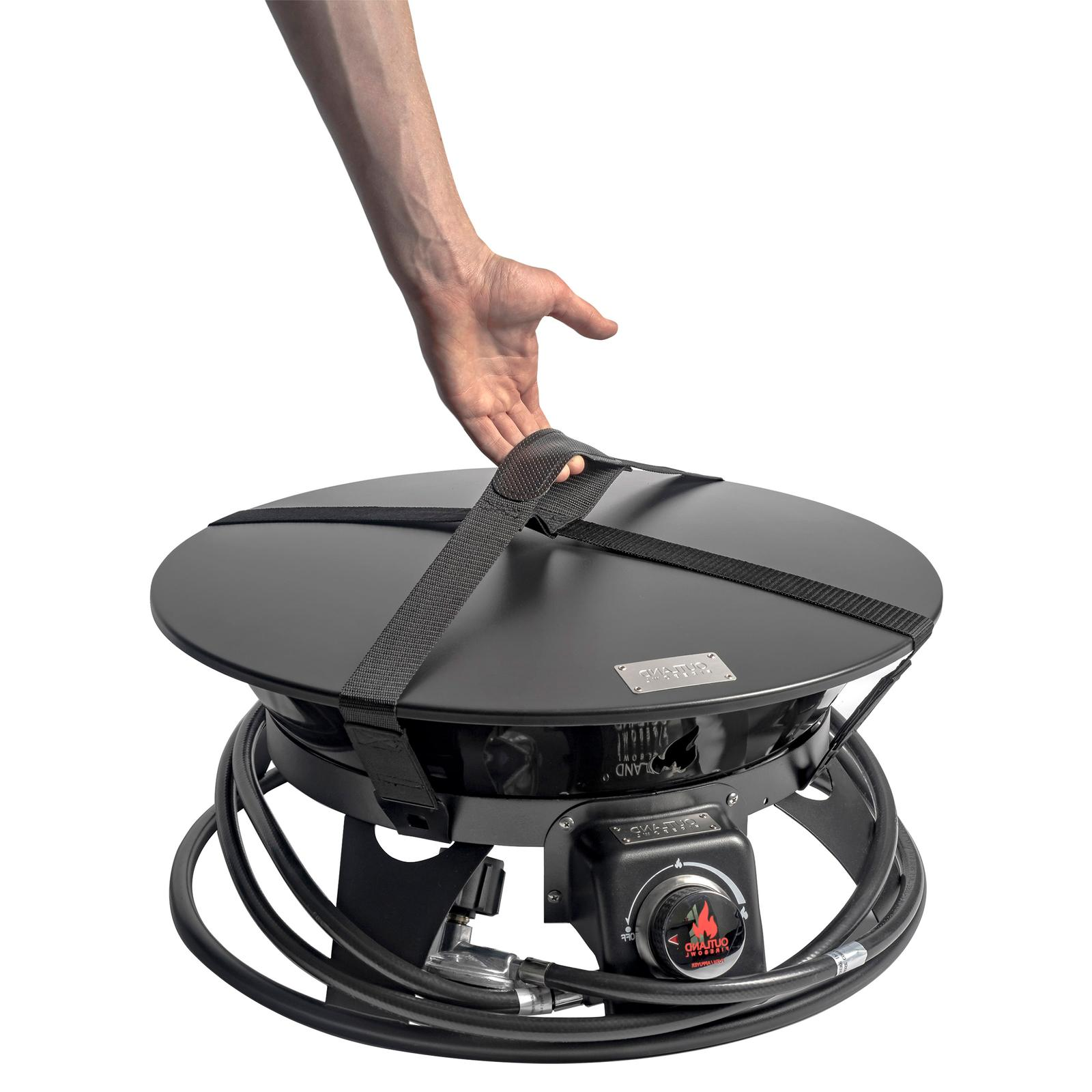 Outdoor Gas Outland Firebowl with Cover