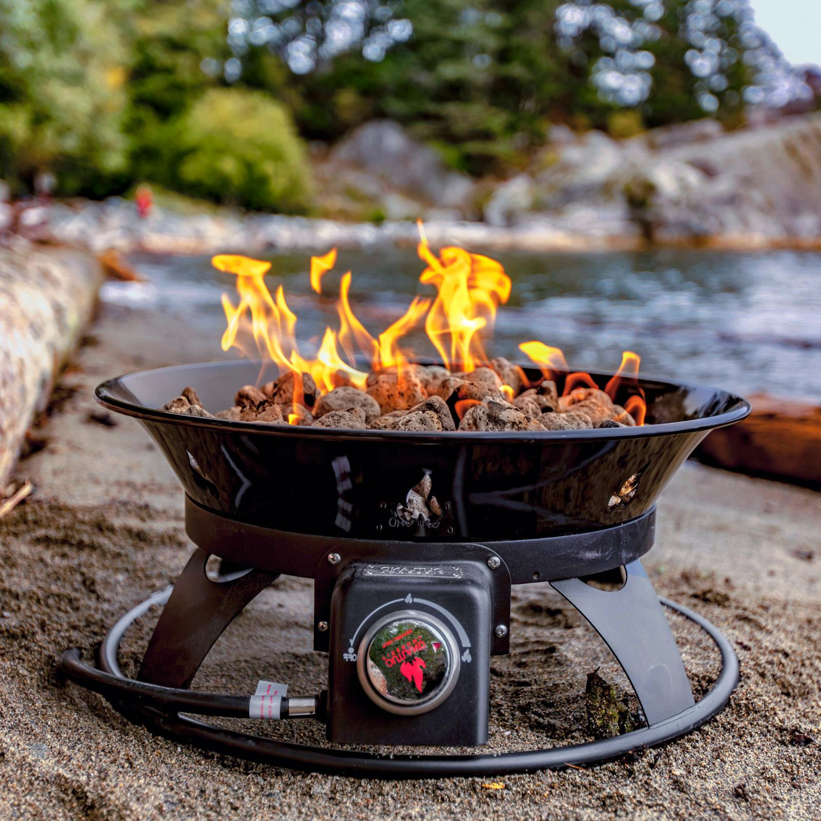 Outdoor Fire with Cover