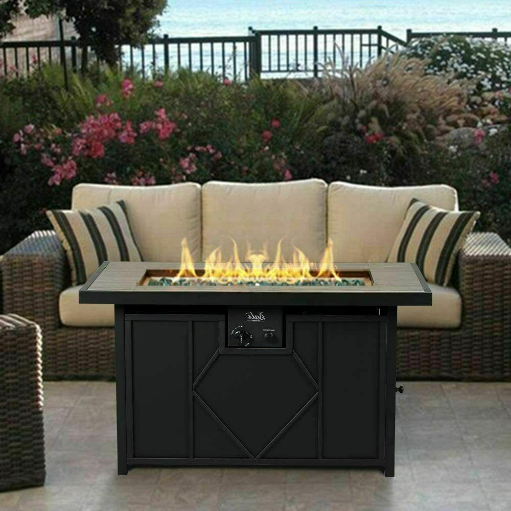 outdoor fire pit table patio backyard heater