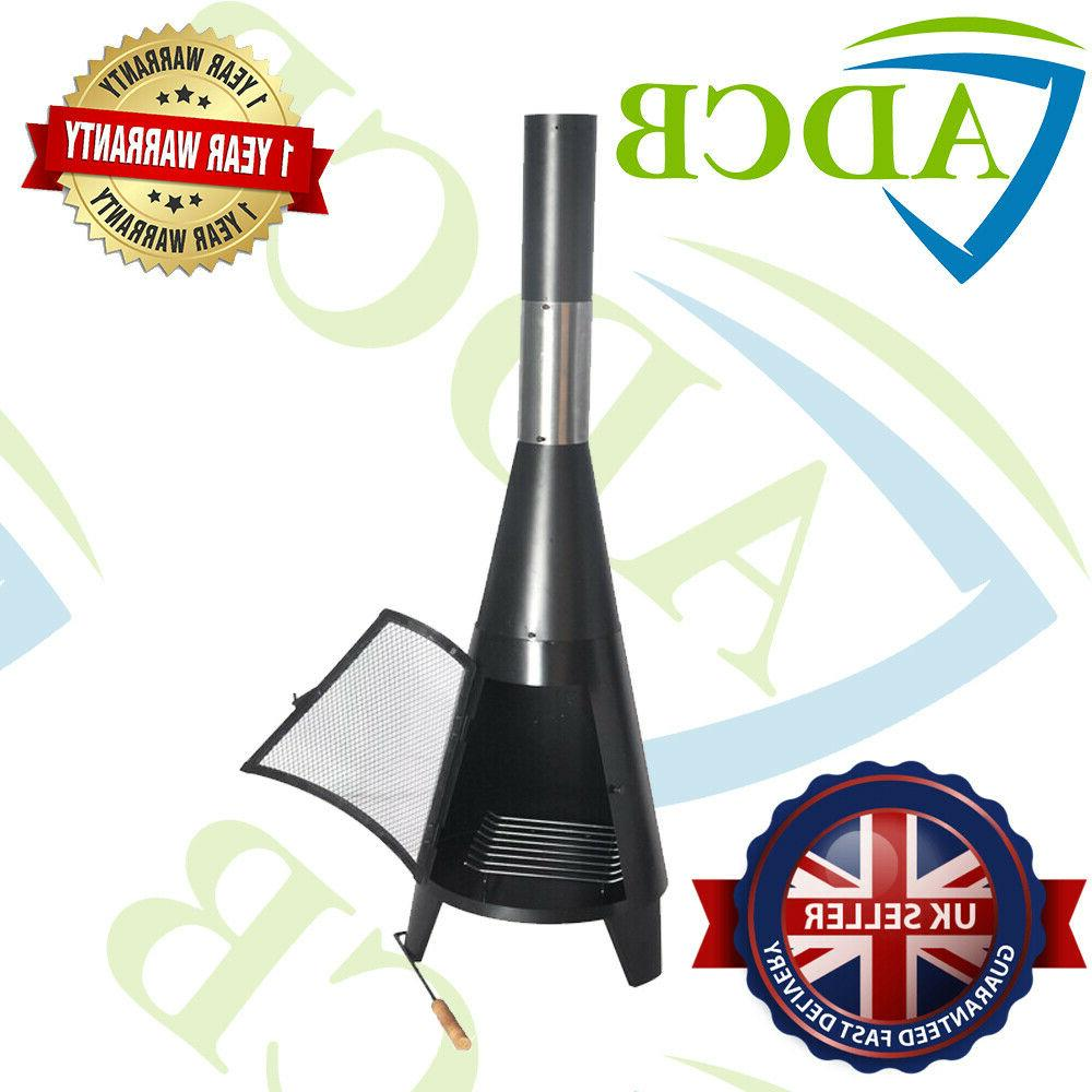 outdoor garden vertical charcoal grill with chimney