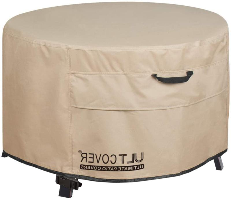 ULTCOVER Patio Fire Pit Table Cover Round 36 inch Outdoor Wa