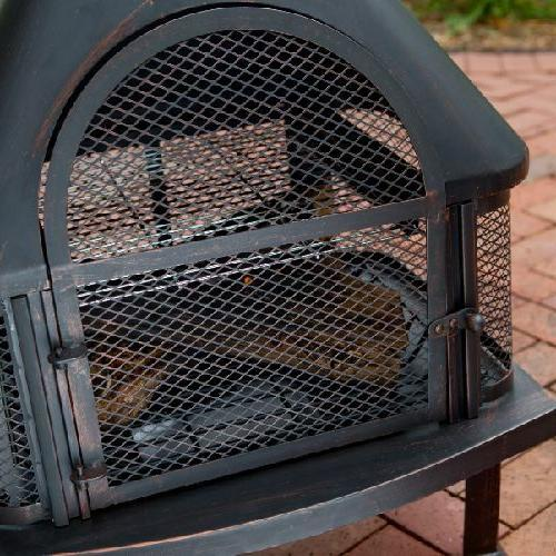 Outdoor Pit Wood Chiminea Stove