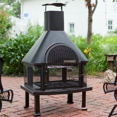 Outdoor Fireplace Fire Pit Wood Chiminea