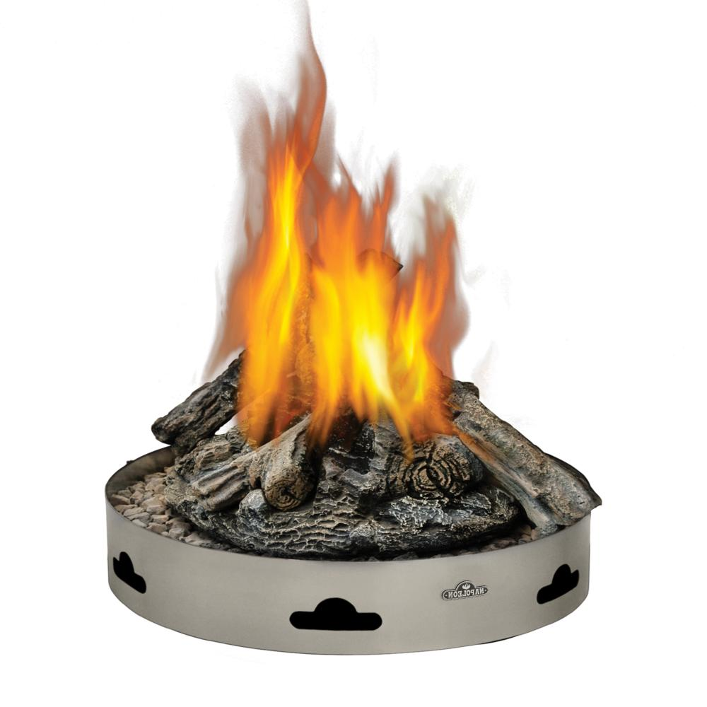 Napoleon Patioflame Fire Pit w/ Logs, Round, Stainless