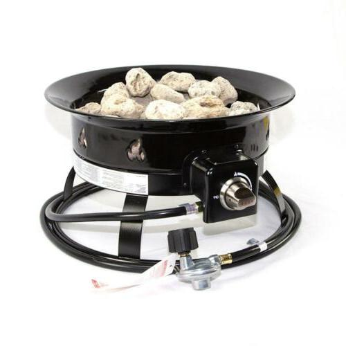 Portable Fire Pit Propane Outdoor Yard
