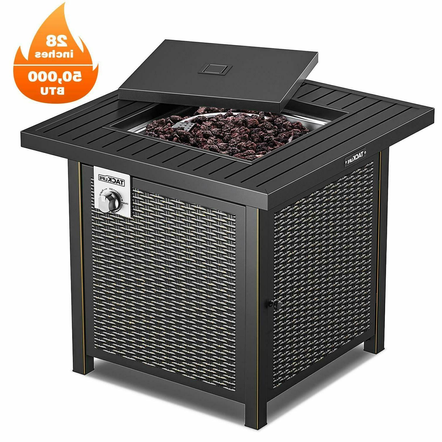 propane fire pit table outdoor companion 28