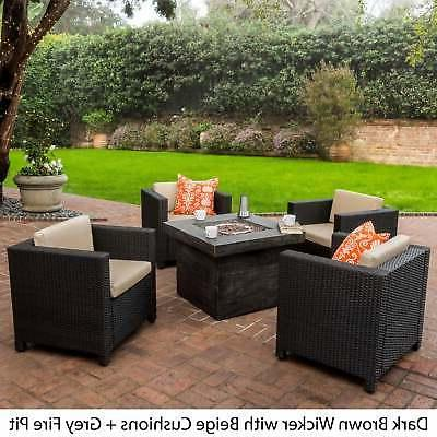 Puerta Outdoor 4-piece Chair with Firepit