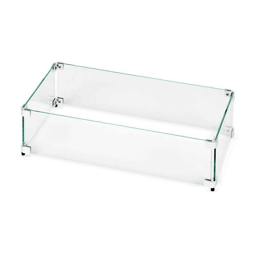 "American Rectangular Fire Pit Glass 23.5"" x 11.5"" x 6"""
