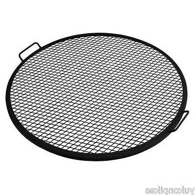 Round Outdoor Fire Pit Mesh Grill Grate