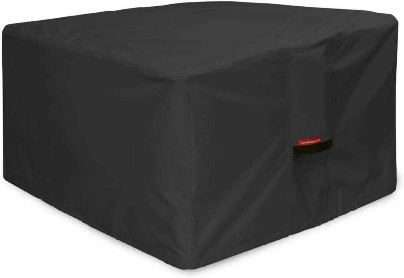 Square Patio Fire Pit Table Cover Waterproof Heavy Duty Full
