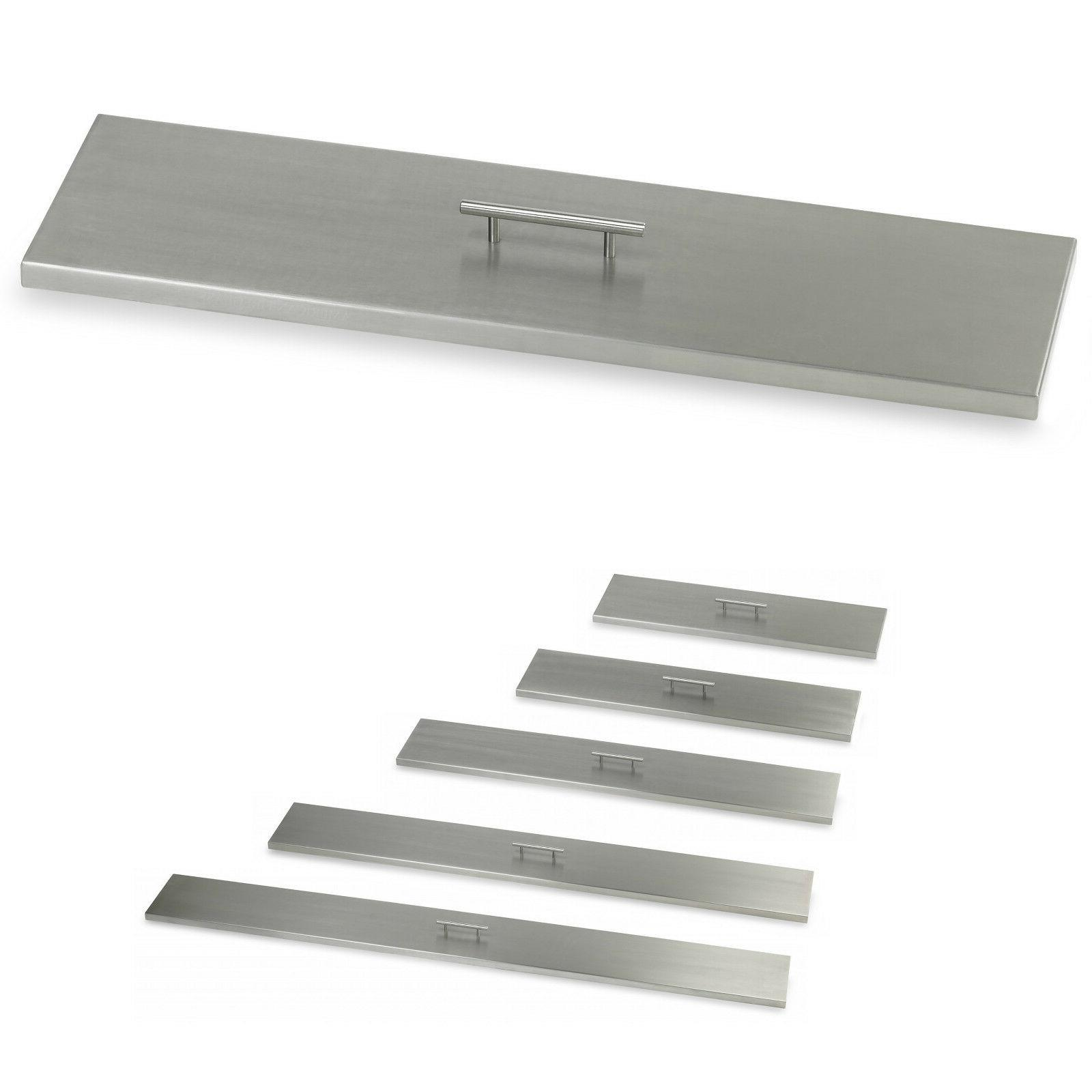 stainless steel fire pit covers linear lids