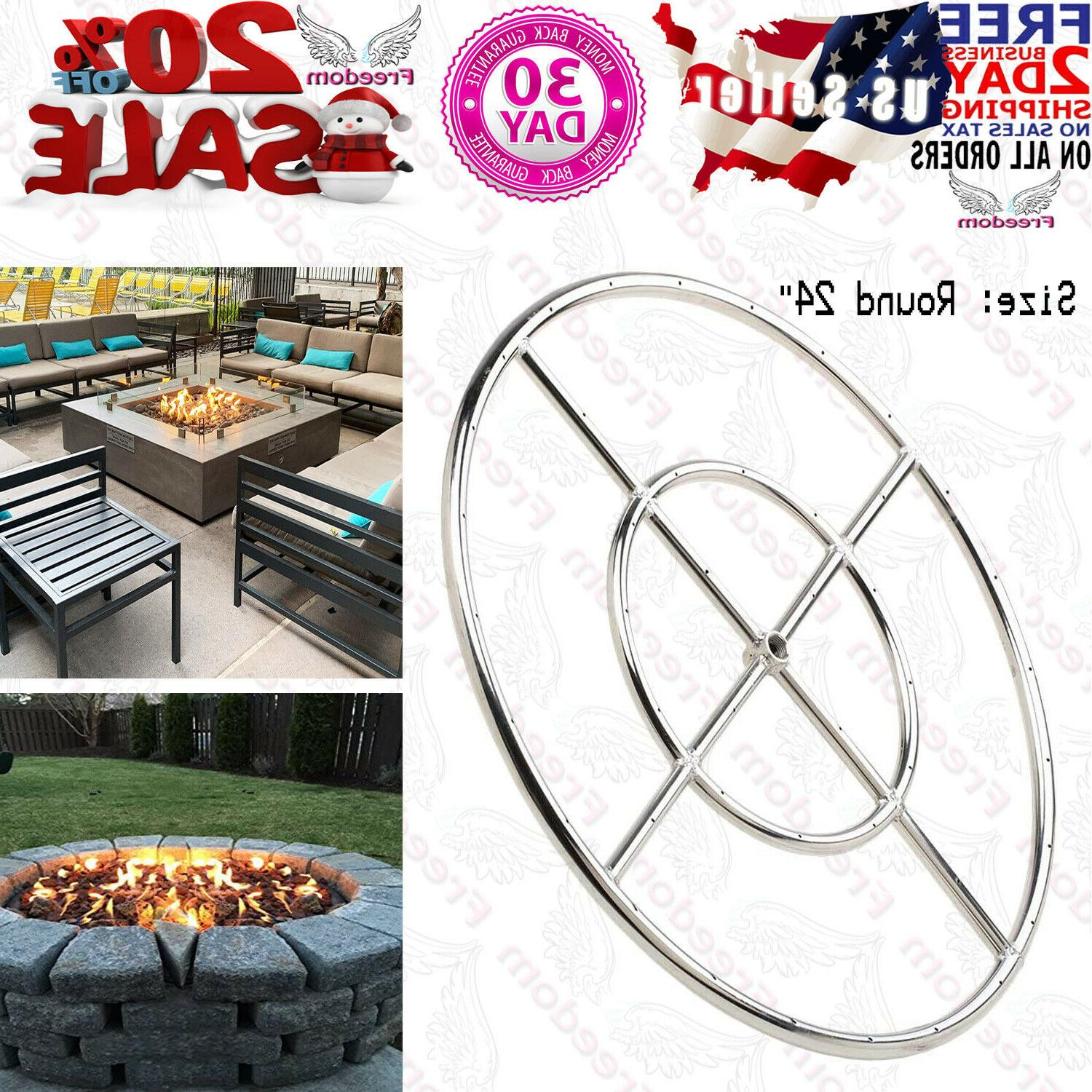 stanbroil 24 round fire pit burner ring