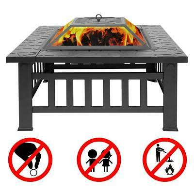 Wood Burning Fire Pit Outdoor Heater Backyard Deck Stove