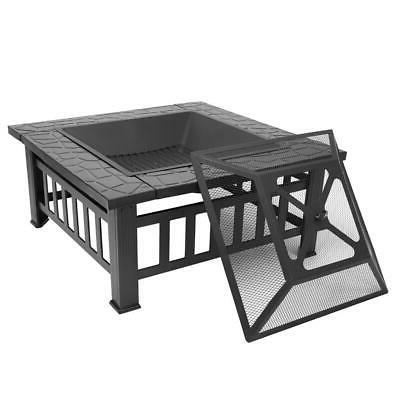 32 metal fire pit brazier square table