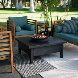 Large Fire Pit Table Propane Gas Patio Deck 50000 BTU Outdoo