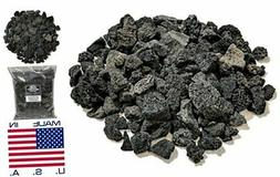 """Lava Rock for Fire Pits and Gas Log Sets, Black 5/8"""" to 1-1/"""
