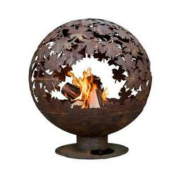 Esschert Design Leaf Wood Burning Fire Pit 24 In. x 28 In. R