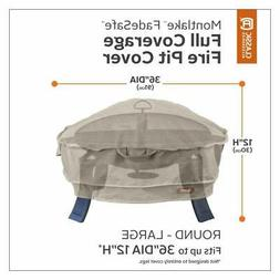 """Classic Accessories Montlake Round Full Fire Pit Cover, 36"""""""