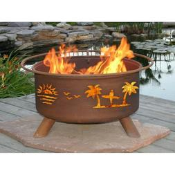 """Patina Nature & Wildlife Fire Pits with Free Cover, 31"""" Diam"""