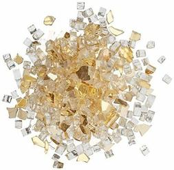 "NEW Dragon Glass 1/4"" Reflective Fire Glass, 10 lb, Gold FRE"