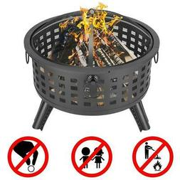 New Large Outdoor Fire Pit Wood Burning Backyard Patio Steel