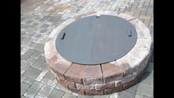"""New Round Steel Fire Pit Cover 36"""" Diameter 14g steel"""