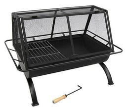 Sunnydaze 36 Inch Northland Grill Fire Pit with Protective C