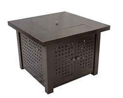 Pleasant Hearth OFG418T A Eden Square Gas Fire Pit Table, 38