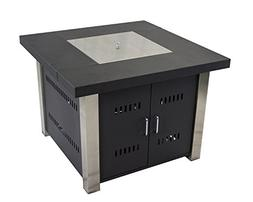 Pleasant Hearth OFG901T Montreal Square Gas Fire Pit Table,