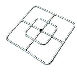 Onlyfire 18-inch Stainless Steel Square Fire Pit Burner, Dou