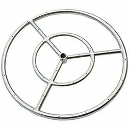 Onlyfire 24-inch Stainless Steel Round Fire Pit Burner Ring,