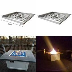 Onlyfire Square Stainless Steel Drop In Fire Pit Burner Ring